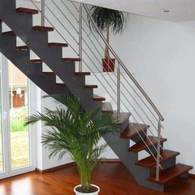q stairs stahl wangentreppe aufgesattelt. Black Bedroom Furniture Sets. Home Design Ideas